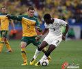 图文:加纳1-1澳大利亚 吉安突破