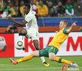 图文:加纳1-1澳大利亚 吉安劲射