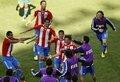 图文:斯洛伐克VS巴拉圭 进球庆祝