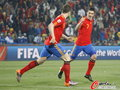 图文:西班牙VS洪都拉斯 两大前锋