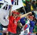图文:韩国VS尼日利亚 球迷激情助威(8)