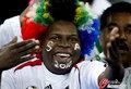 图文:韩国VS尼日利亚 球迷激情助威(17)