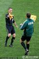 图文:荷兰2-1斯洛伐克 裁判更换旗子