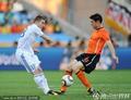 图文:荷兰2-1斯洛伐克 范博梅尔有踩踏行为
