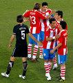 巴拉圭队(F组第一)队长:丹尼斯·卡尼萨