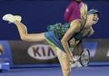 组图:莎娃重回墨尔本 澳网首轮激战基里连科