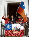 高清:智利队光荣回国 总统亲自接见