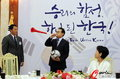 李明博官邸接见韩国队