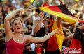 图文:德国负西班牙 国内球迷激情助威(20)