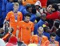 图文:西班牙夺大力神杯 球员激情庆祝(154)