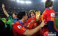图文:西班牙夺大力神杯 球员激情庆祝(162)