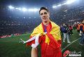 图文:西班牙夺大力神杯 球员激情庆祝(164)