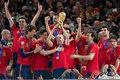图文:西班牙夺大力神杯 球员激情庆祝(256)
