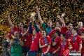 图文:西班牙夺大力神杯 球员激情庆祝(262)