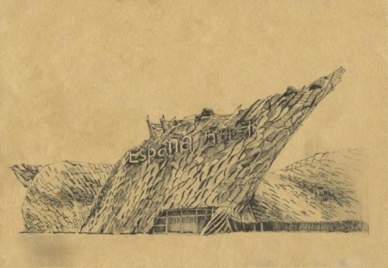 手绘图天安门手绘图世博会土耳其馆手绘图世博