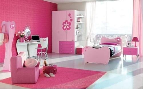 粉红芭比家具 打造浪漫公主小屋