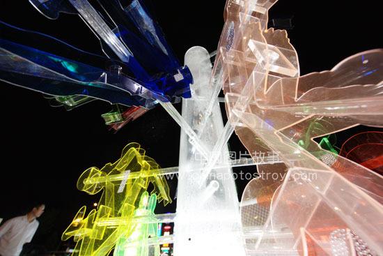 北京. 蓝色港湾世界杯激情广场雕塑。