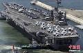 高清:美华盛顿号航母抵韩 将参加联合军演