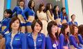 高清:ChinaJoy腾讯展台 蓝衣美女引人眼球