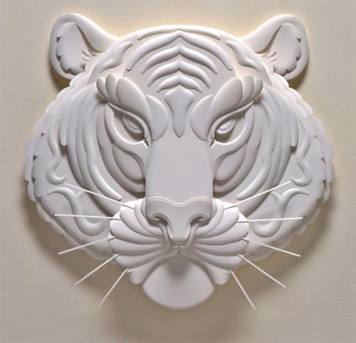 体纸雕塑艺术作品