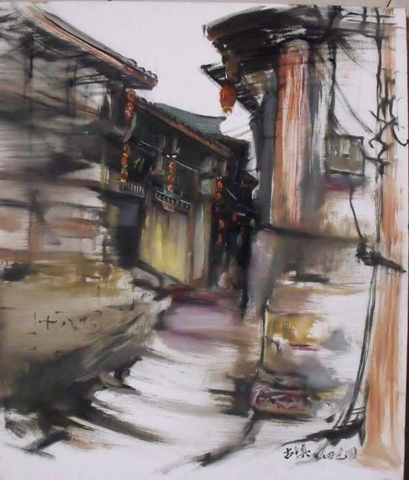 重庆手绘水彩城市