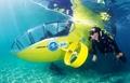 高清:全球首架脚踏动力潜艇下水测试