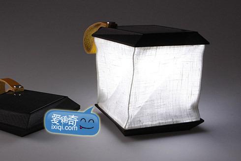 可折叠的太阳能便携灯