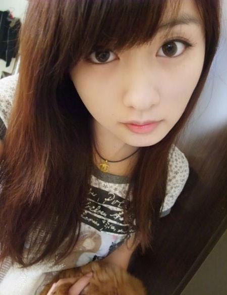 台湾学生妹妮妮秀自拍 真是清秀可爱(组图)_女