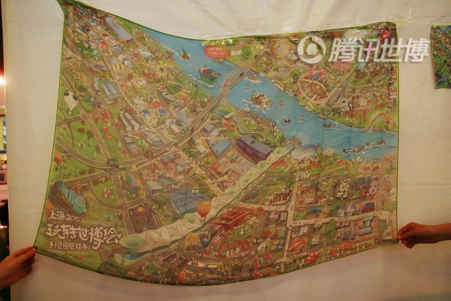 这幅手绘地图同时也是丝巾