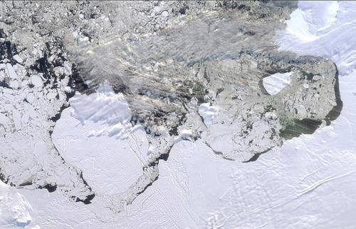 地球南极俯视图