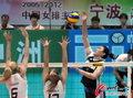 中国女排遭巴西零封