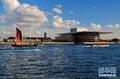 高清:哥本哈根迎来蓝天白云的晴朗天气