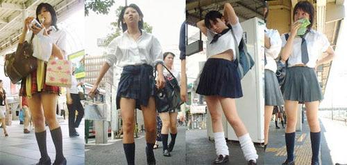 实拍:日本街头女学生校服(组图) _广播站_大渝