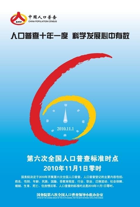第六次人口普查_人口普查宣传画