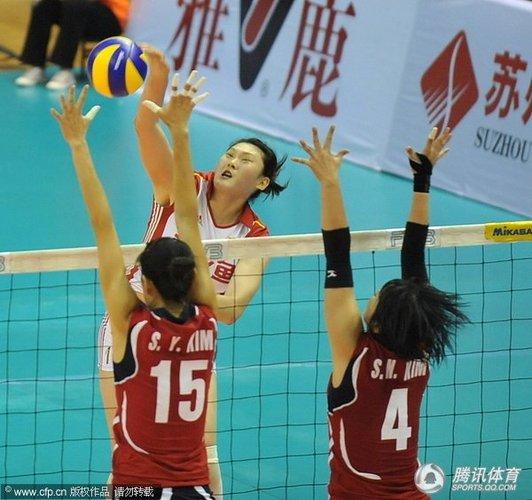 中国女排3-0完胜韩国 三战全胜小组第一进8强