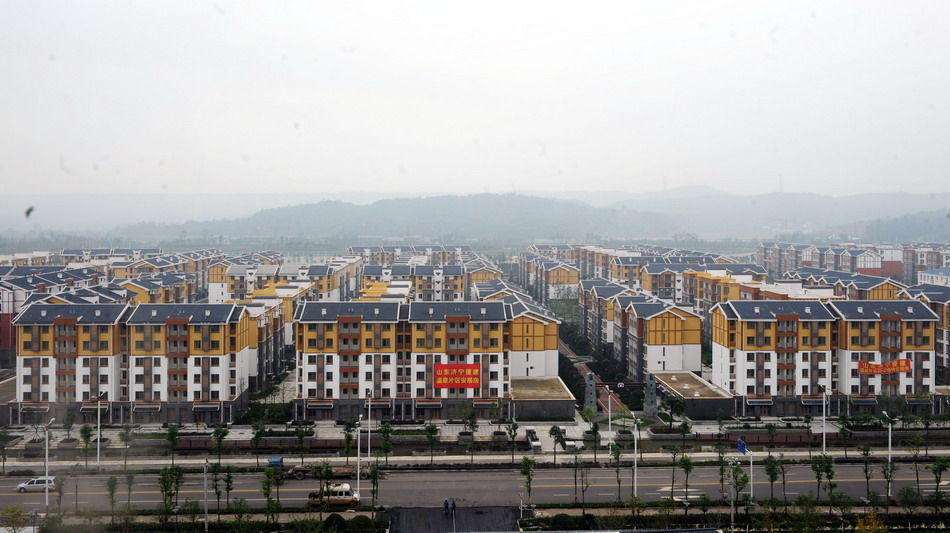 山东潍坊市援建的北川安居房一期