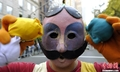高清:美国纽约举行哥伦布日大游行