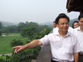 组图:广州市长亲临九龙湖视察亚运高球场地