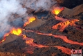 高清:法国弗尔乃斯火山喷发熔岩流