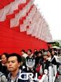 组图:克罗地亚馆游人如织 风情领带魅力十足