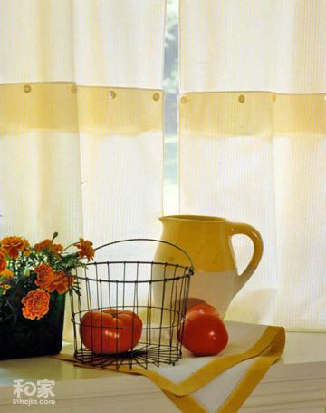 10款自制DIY的小窗帘 让厨房惊艳无比