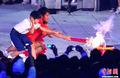 组图:广州亚运会开幕式 圣火主火炬点燃瞬间