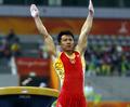 高清:中国男子体操队夺得亚运会团体金牌