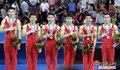 高清:中国男子体操队夺金 完成亚运十连冠