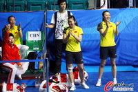 高清:中国羽球女团胜韩国 于洋压阵气场十足