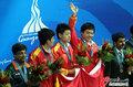 高清:亚运会男子斯诺克团体决赛中国夺冠