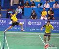 高清:羽球男团决赛 蔡赟/付海峰1-2憾负韩国