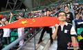 女足战越南热情球迷