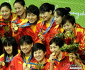 高清:女子水球中国强势获胜 夺水球项目首金
