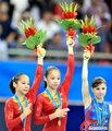 高清:体操女子平衡木 眭禄夺冠邓琳琳摘银
